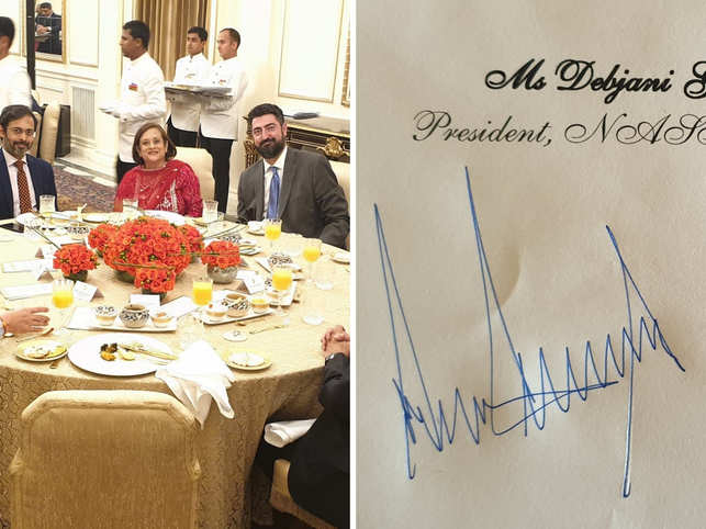 The first woman head of NASSCOM also shared pictures from the lunch on Twitter.