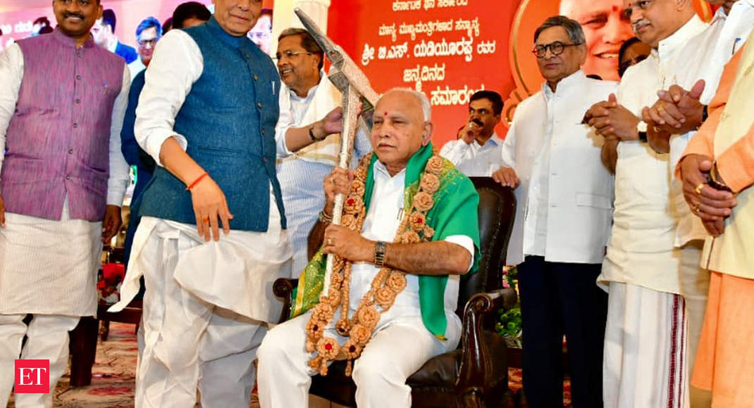 BS Yediyurappa says will continue to work for farmers' welfare