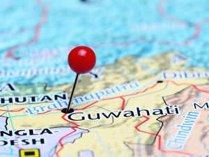 assam guwahati map getty