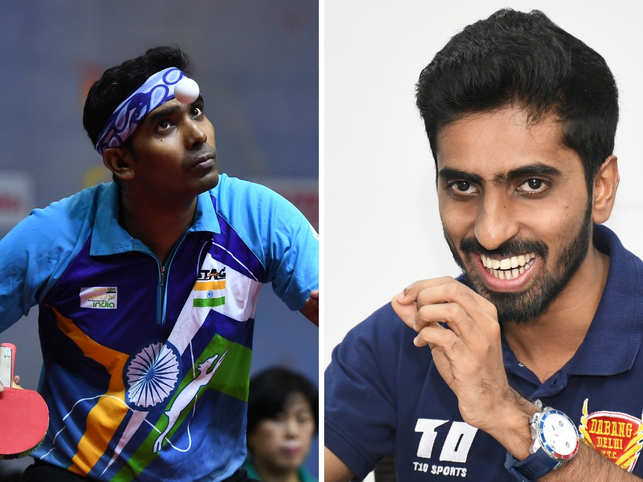 Sharath Kamal (left) and G Sathiyan (right), won silver at the Hungarian Open.