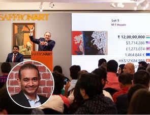 Rolls Royce Ghost, MF Hussain painting & Birkin handbags owned by Nirav Modi's fetch Rs 51 cr at auction