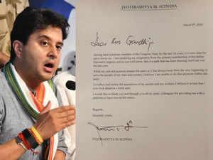 MP political crisis: Jyotiraditya Scindia tenders resignation from Congress