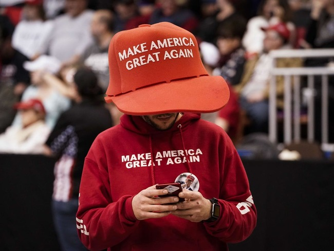 Red Shot Glass keep America great POTUS president Trump motto