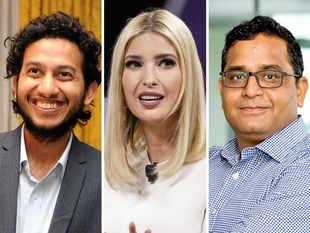 Ivanka Trump (C) and Vijay Shekhar Sharma (R) took to Twitter to laud Ritesh Agarwal-led OYO's initiatives in the US.