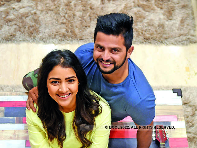 ​Suresh Raina (R) and wife Priyanka become parents for the second time.​