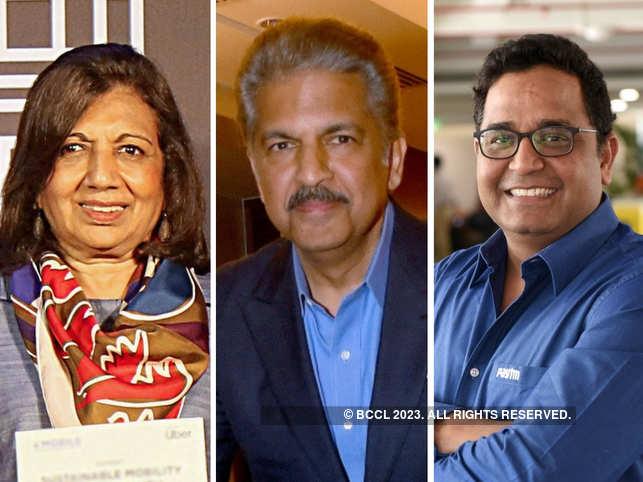 (L-R) Kiran Mazumdar-Shaw, Anand Mahindra and Vijay Shekhar Sharma lauded PM Modi's decision to lockdown India for 21 days.