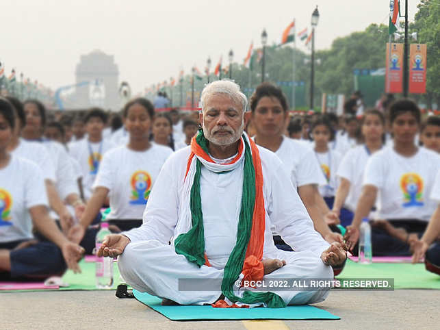 PM Modi said that Yoga Nidra relaxes the mind, and reduces stress and anxiety.