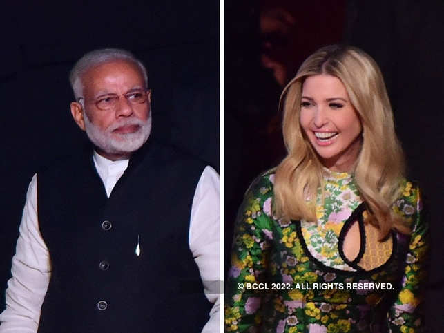Ivanka Trump gave PM Modi's fitness video a thumbs-up.