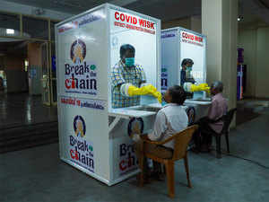 The 'phone booths' that are making Covid tests in India easier, quicker and safer
