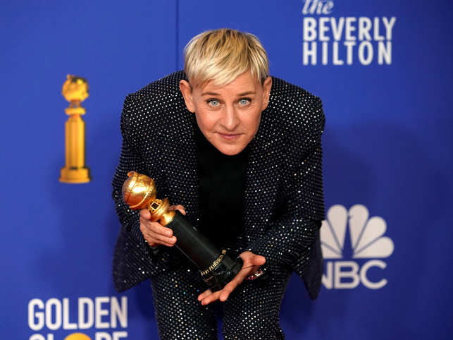 DeGeneres, whose daily television talk show had been off the air for three weeks because of a stay-at-home order, returned on Wednesday with a show filmed by her wife.