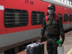 Coronavirus lockdown: Special train moves troops to forward areas