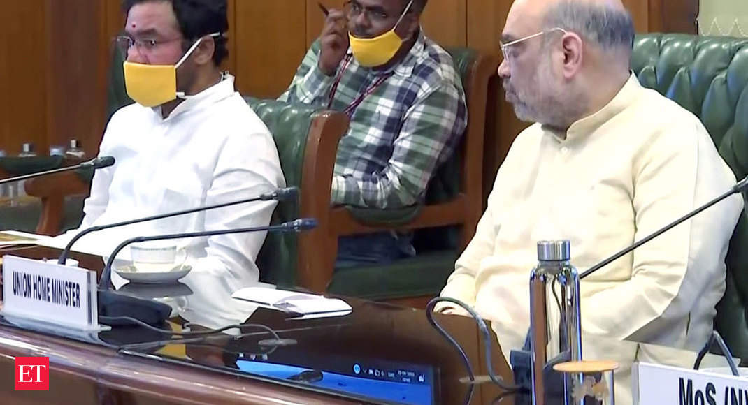 covid impact: Amit Shah reviews lockdown situation, takes stock of supply of essential commodities