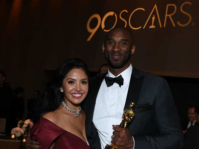 File photo of 2018: Basketball player Kobe Bryant and his wife Vanessa Laine Bryant at the 90th Annual Academy Awards Governors Ball at the Hollywood & Highland Center, in Hollywood, California.