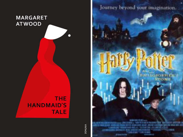 """Other challenged works included Rowling's """"Harry Potter"""" books, which have long been criticized by some religious groups for themes of sorcery; and Atwood's dystopian """"The Handmaid's Tale."""""""
