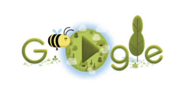 Google celebrates the mighty bee on 50th Earth Day with a fun, interactive doodle