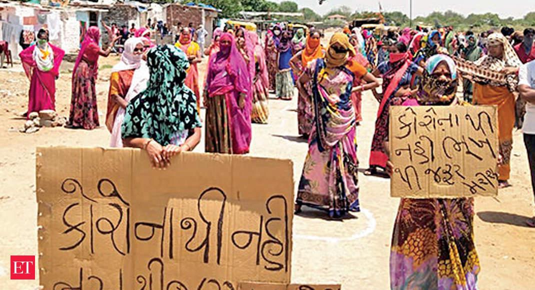 ahmedabad slum dwellers: Hunger, not corona, will kill us: Ahmedabad slum dwellers