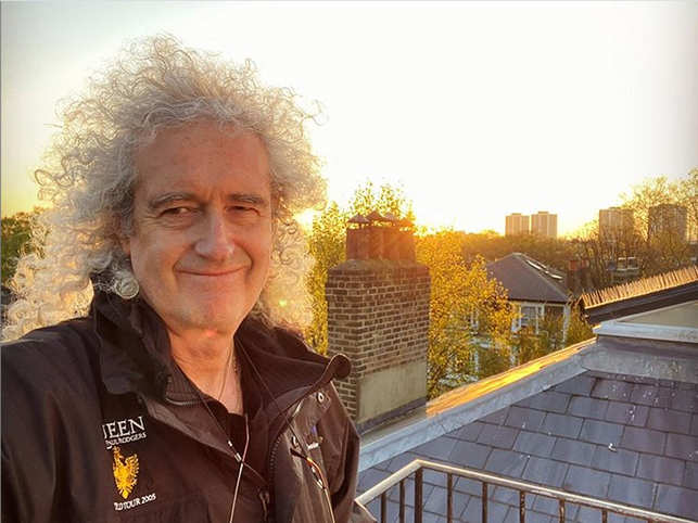Brian May said that he won't be able to walk for a while without assistance. 