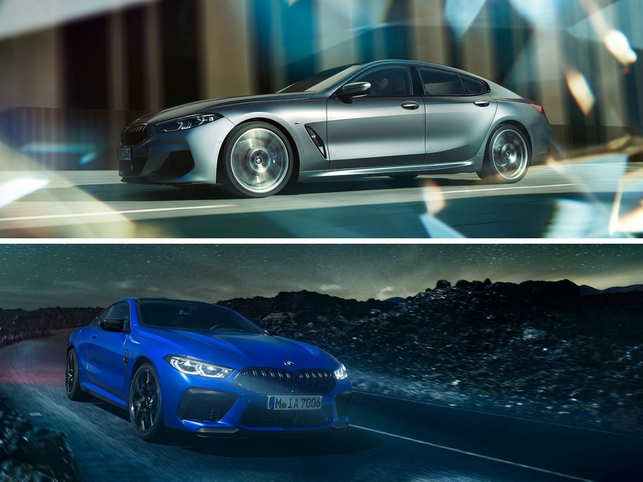 Both models -8 Series Gran Coupe (top) and M8 Coupe (below) - are now available to order at all BMW dealerships.
