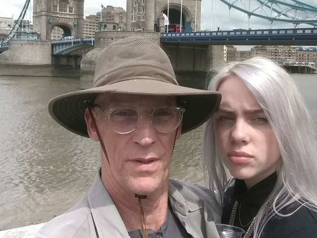 Billie Eilish (R) said that, over the years, she has had a special relationship with her dad where they share music with each other. (Image: Instagram/@krondeutch)