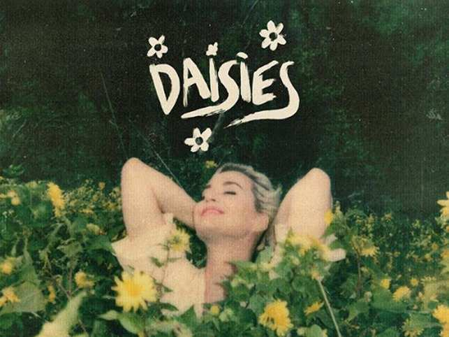 The post was accompanied by a grainy photograph, showing Perry playing in a field of daisies.