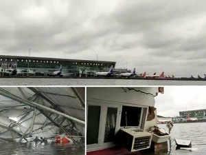 Watch: Cyclone Amphan leaves Kolkata airport flooded