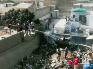 Pakistan passenger plane crashes in residential area near Karachi, 107 onboard