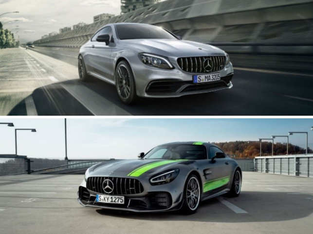 With AMG C63 Coupe (top) and AMG GT R Coupe (bottom), Mercedes-Benz now has the widest range of performance vehicles with 15 cars on offer
