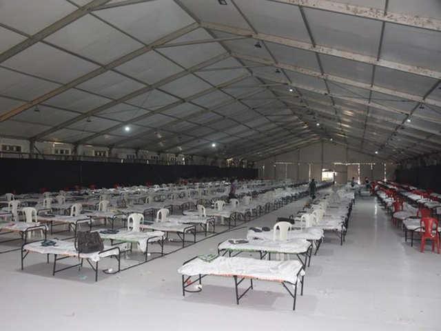 Inside Mumbai's jumbo covid facility - Built in a fortnight | The Economic  Times