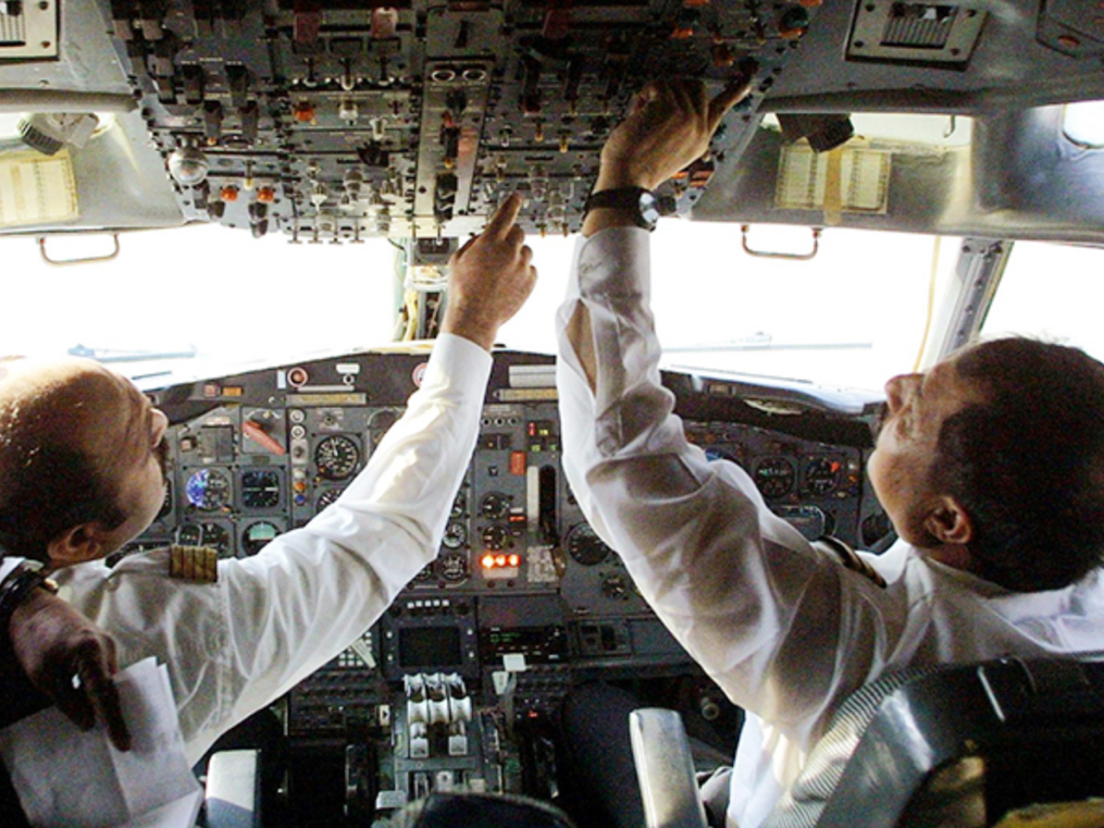 This is your captain from the flight deck. On the left is my pay cut, and on the right, arduous hours.