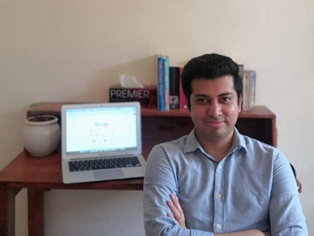 Sourabh Gupta​ ​has a dedicated study room in his apartment which has an office-like set-up.