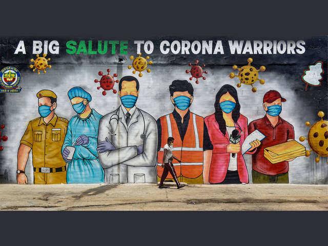 Coronavirus pandemic inspires the art of graffiti in India ...