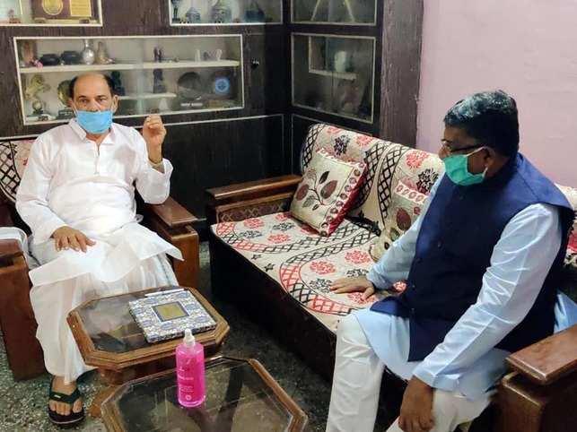 Ravi Shankar Prasad met Sushant Singh Rajput's father KK Singh on Friday in Patna.