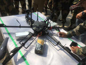 J-K: BSF shoots down Pakistani spy drone carrying weapons in Kathua