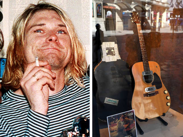 ​Kurt Cobain's guitar became the most expensive guitar ever sold. ​