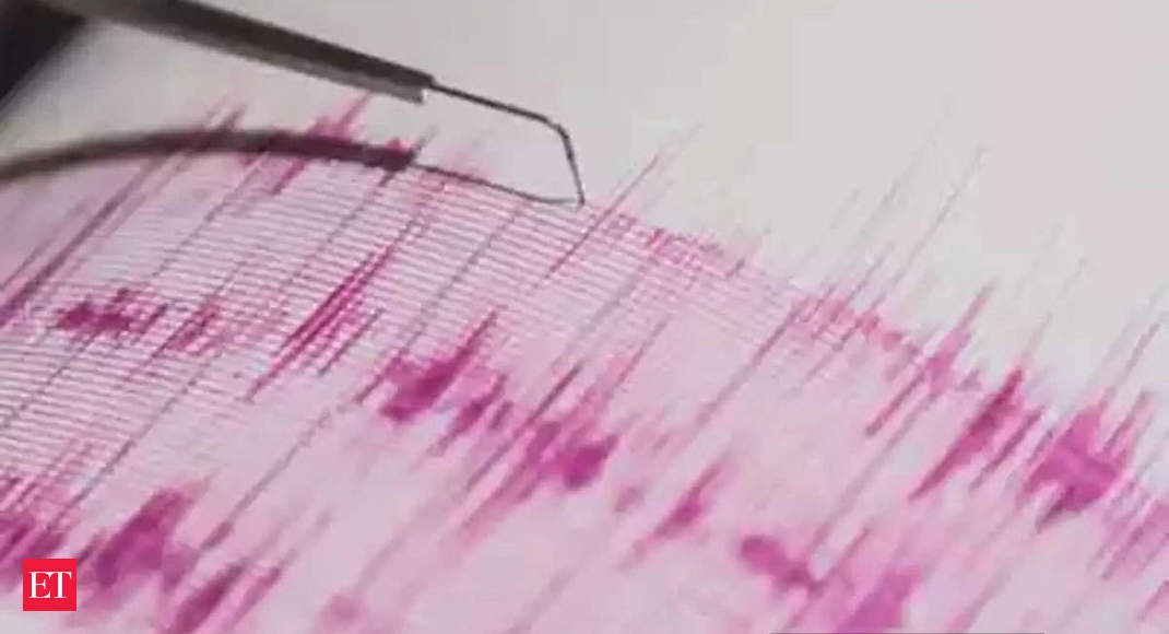 earthquake in mizoram today: Earthquake of 5.3 magnitude hits Mizoram; houses damaged, cracks develop on roads - The Economic Times