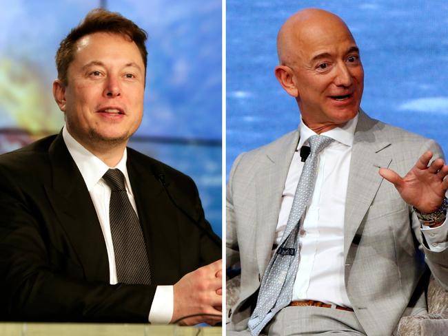 Elon Musk Billionaire Beef Elon Musk Calls Jeff Bezos A Copycat Again