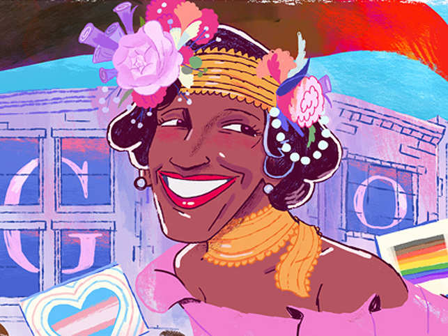 The Marsha P. Johnson doodle is a part of Pride Month this year.