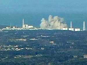 Smoke emanating from the Fukushima nuclear plant