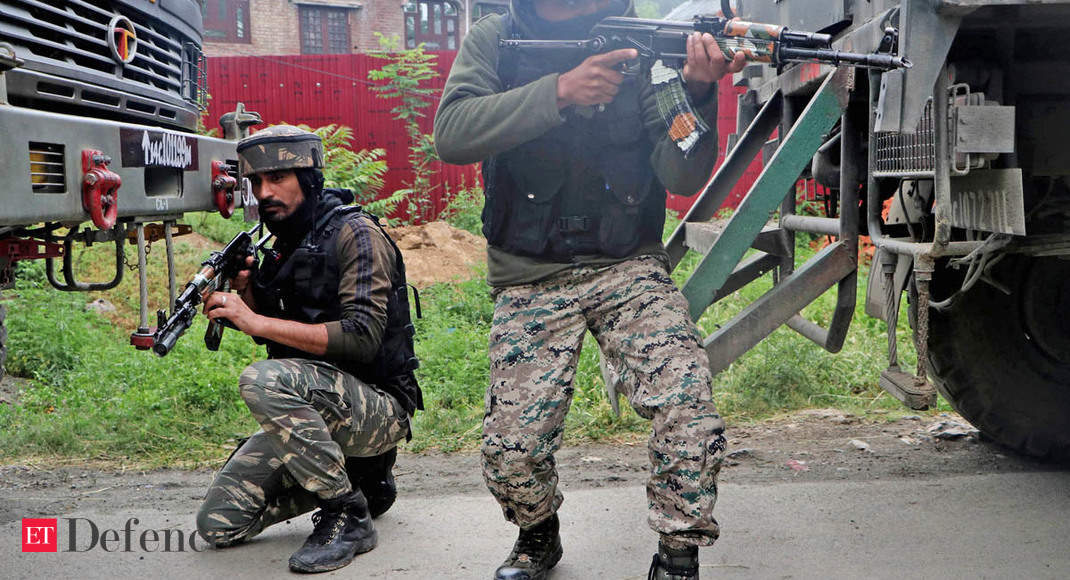 Exchange of fire between security forces, militants in J&K's Anantnag - The Economic Times