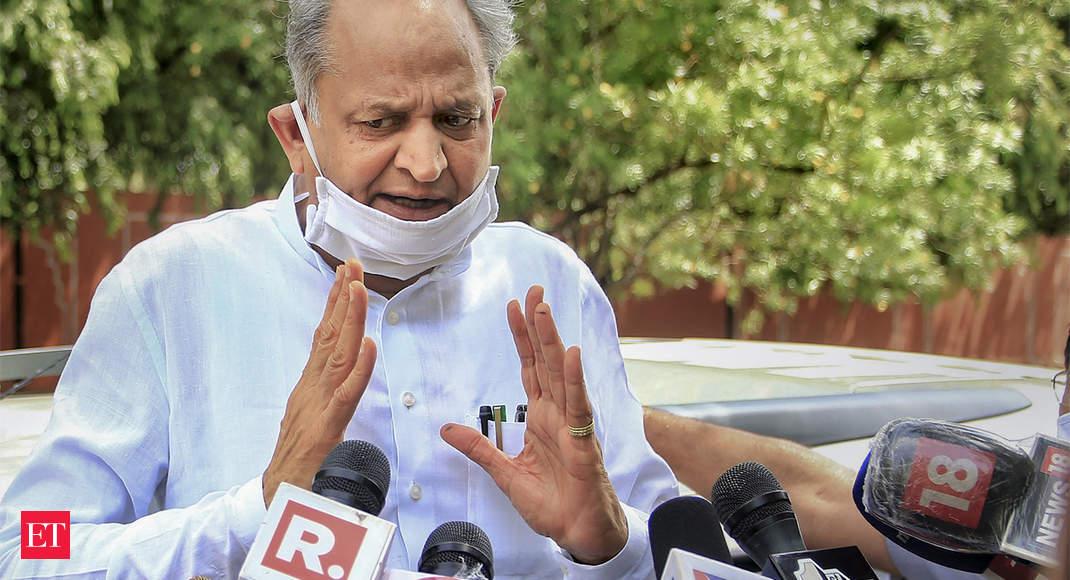 Rajasthan Congress political crisis: Ashok Gehlot should take floor test, demands BJP - The Economic Times