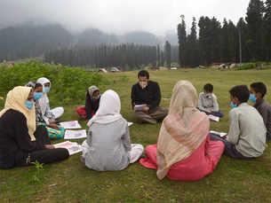 Kashmir's open-air classes are winning hearts amid Covid lockdown