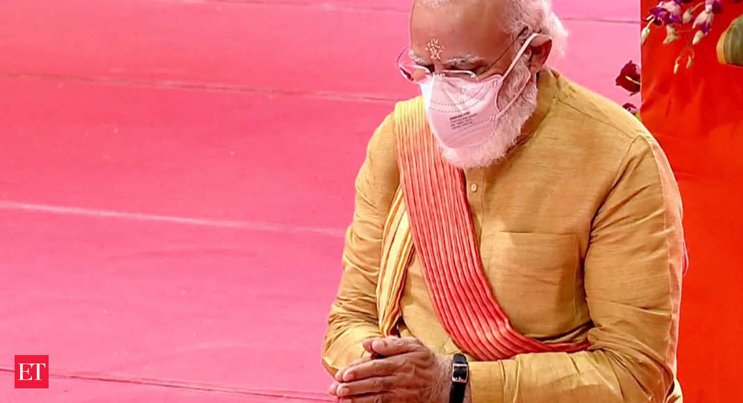 First bricks laid for Ram temple, PM Modi says wait for centuries has finished