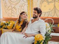 The Internet cannot stop gushing about Rana Daggubati & Miheeka Bajaj's Haldi ceremony pics