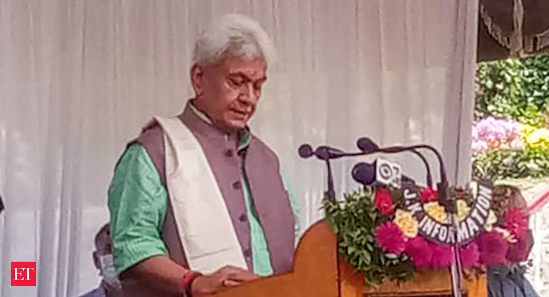 Dialogue with folks will begin quickly, there needs to be peace in J&k: new LG Manoj Sinha