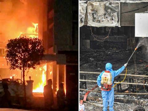 Vijayawada: Massive fire at Covid-19 care facility - Hotel Swarna ...