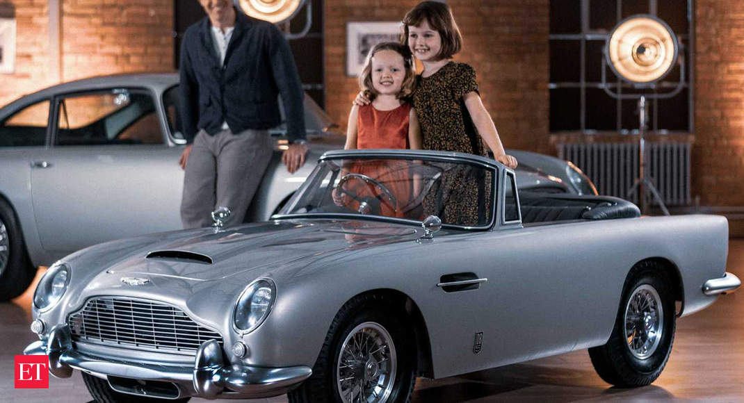 Aston Martin Db5 Junior The Most Famous Car In The World Just Got Redesigned For Kids An Iconic Car For Kids The Economic Times