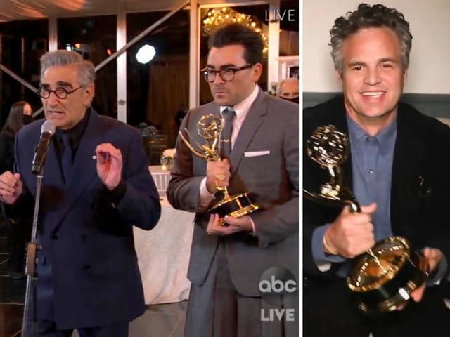 'Schitt's Creek' sweeps comedy categories at Emmys, Mark Ruffalo wins limited series award for 'I Know This Much is True'