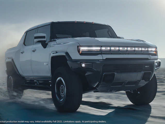 GM debuts electric Hummer pickup at $80,000; can go from zero to 60 mph is 3 seconds