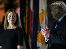 Amy Coney Barrett swearing-in differs markedly from 'superspreader'