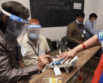 1st phase of Bihar poll passes off peacefully with 54.26 per cent voter turnout